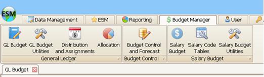 Detailed Salary Budget Menu